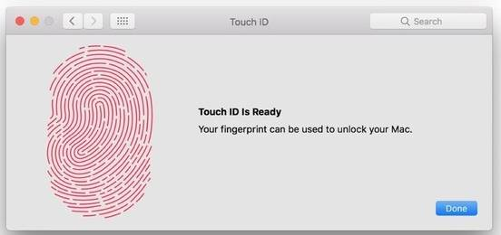 add new touch id on macbook pro